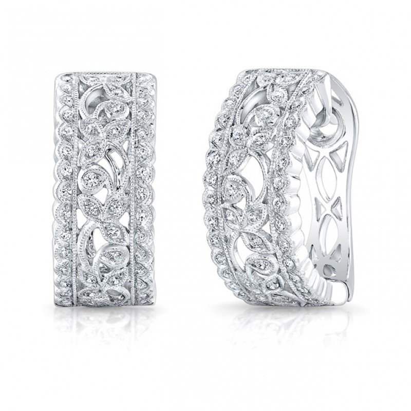 Filigree Diamond Earring.