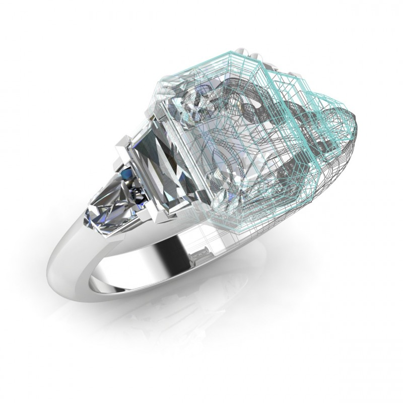 Triple Modern Diamond Ring