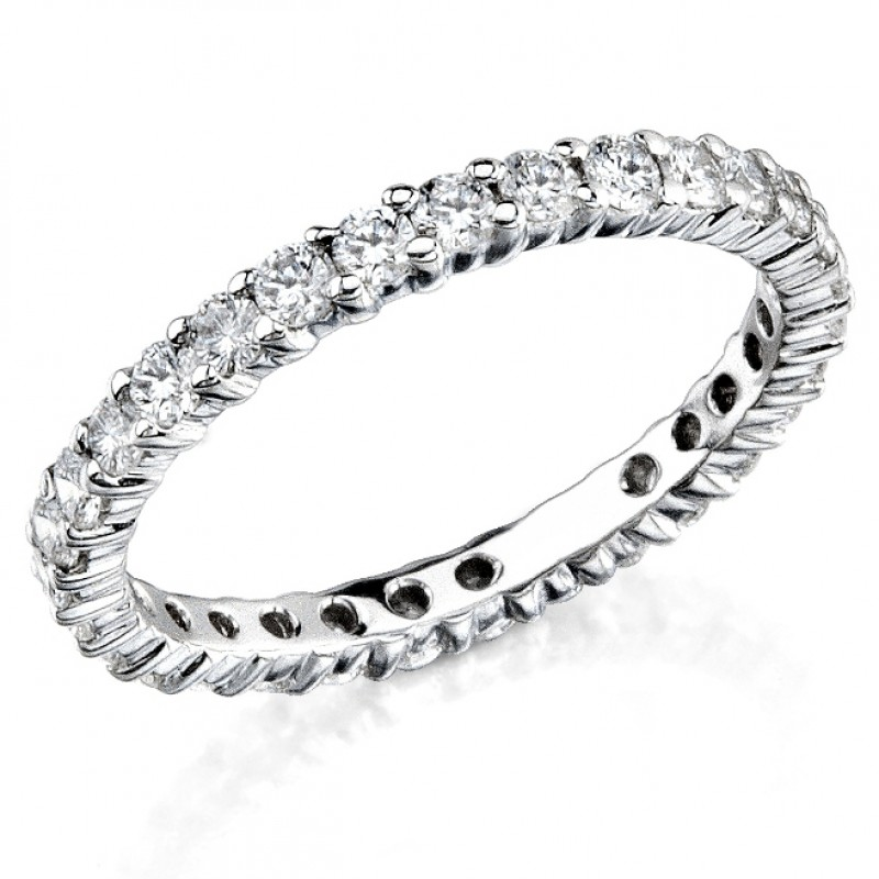 Shared Prong Diamond Stackable Ring