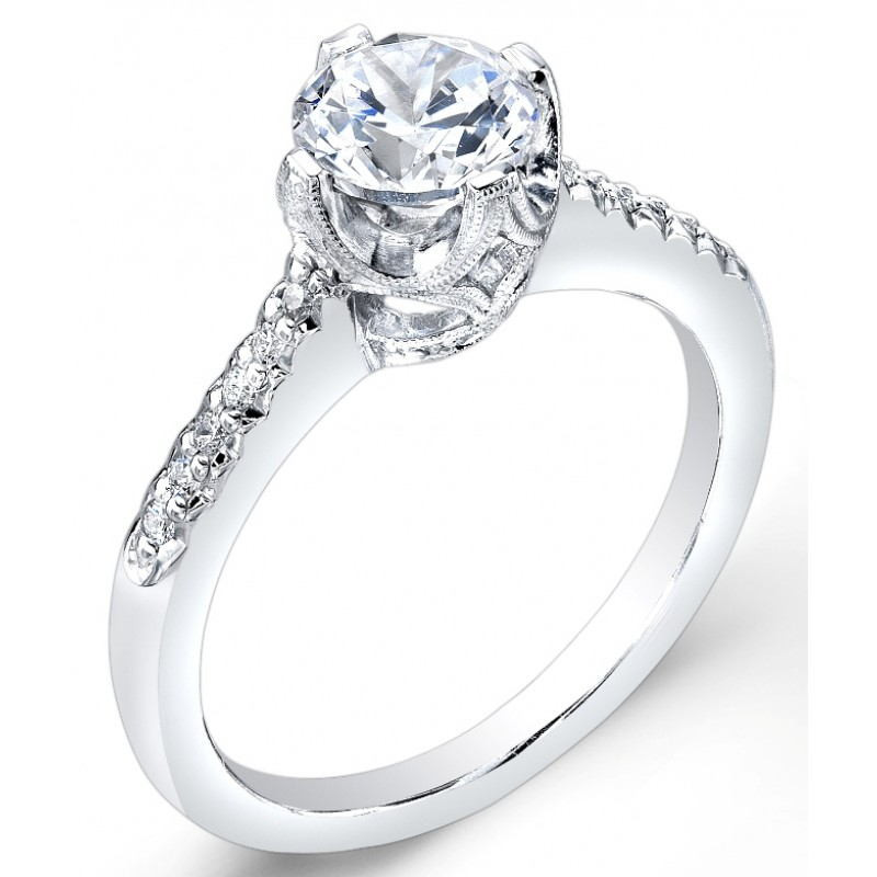 Modern Nouveau, Diamond Engagement Ring