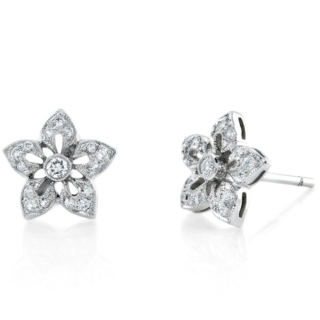 Star Flower, Diamond Earring