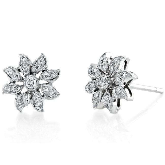 Diamond Flower Earring