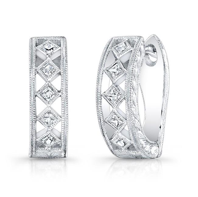 Filigree Diamond Earring.