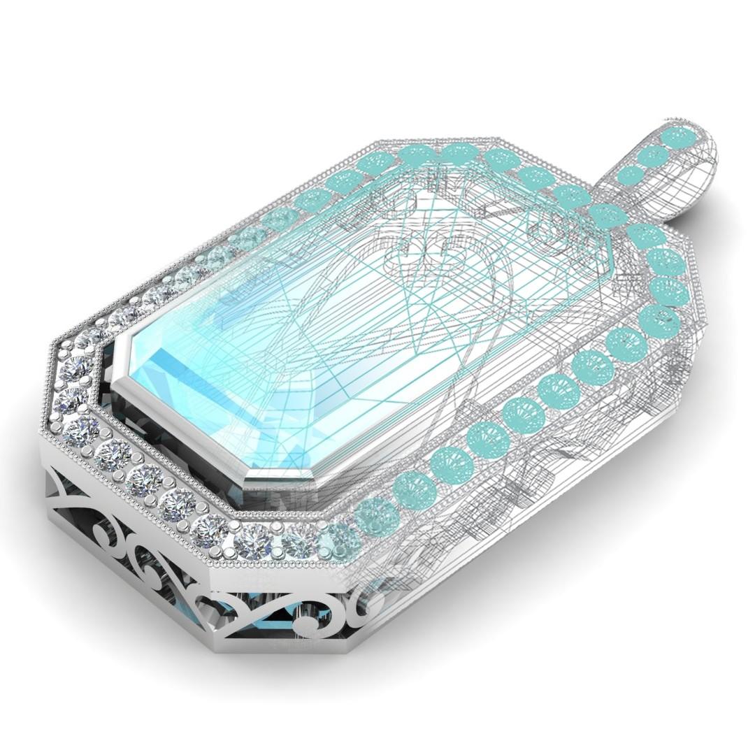 Custom Designed, Aqua Pendant