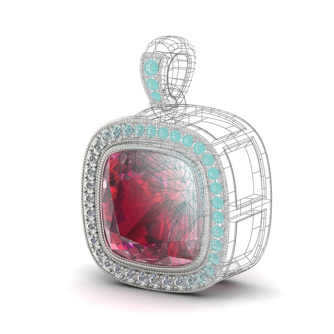 Custom Designed, Ruby Pendant