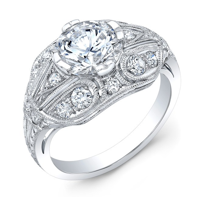 Antique Inspired Diamond  Engagement Ring