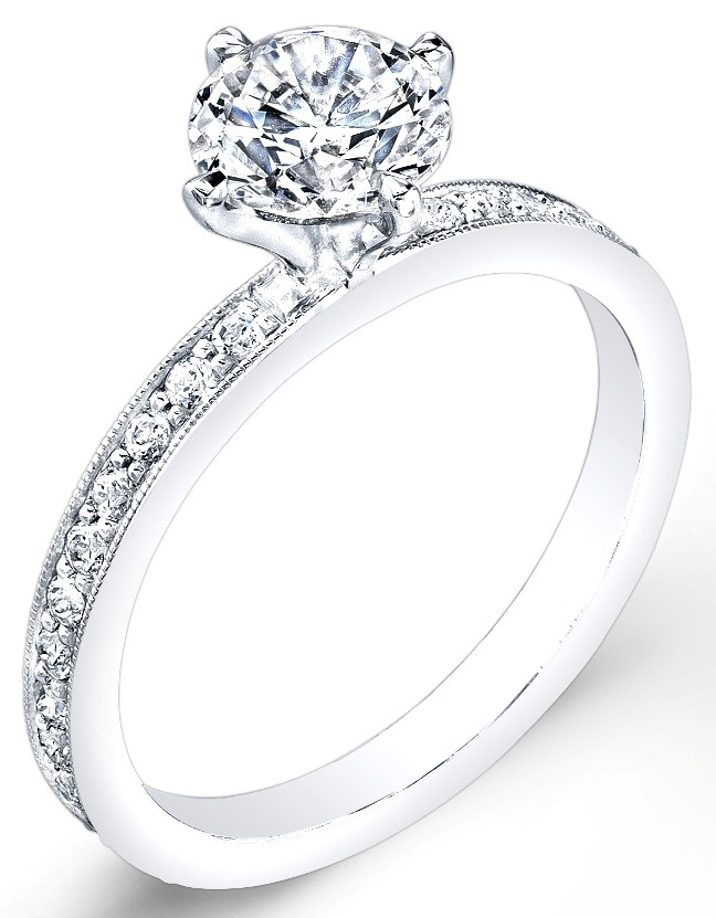 Petite Classic Diamond Engagement Ring