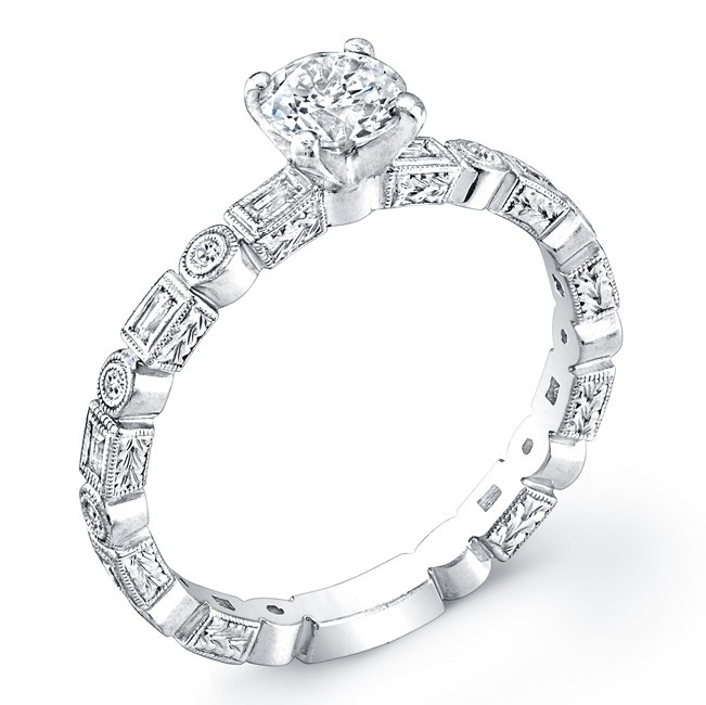 Petite Classic, Diamond Engagement Ring