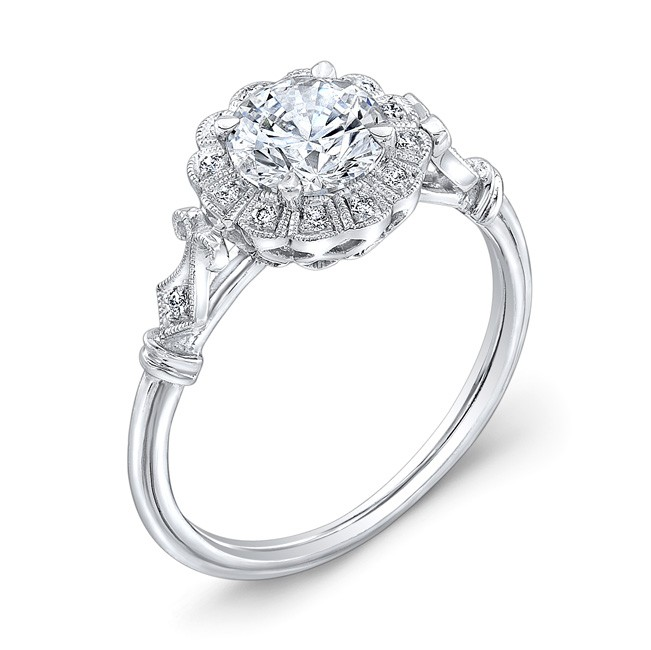 Diamond Halo, Engagement Ring