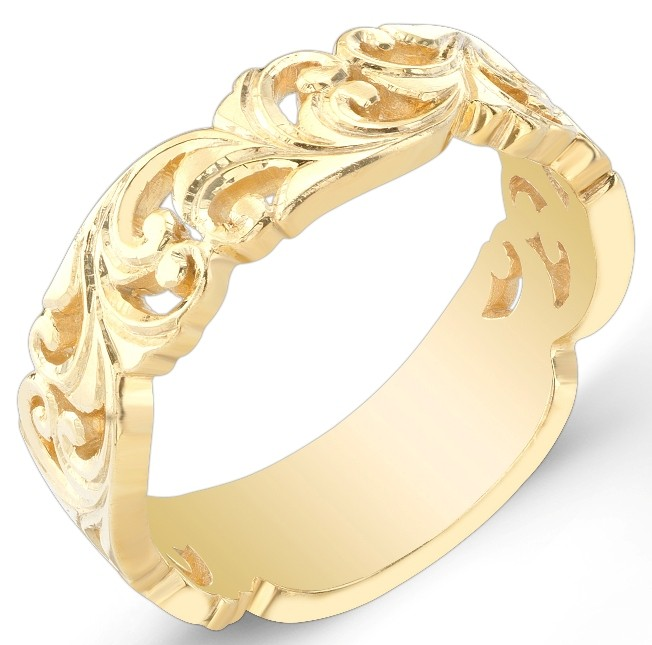 Nouveau Style, Vine Like Wedding Band
