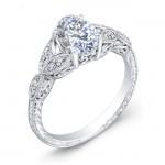 Elegantly Designed Diamond Engagement Ring R9004DOV