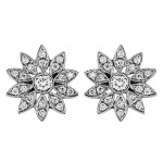 Diamond Flower Earring
