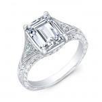 Gordon Clark Antique Inspired Diamond with Mill Grain Engagement Ring