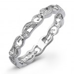Floral Vine Diamond Engagement Ring
