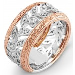 Rose and White Gold Diamond Ring