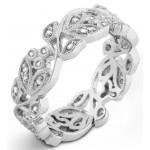 Organic Diamond Wedding Ring