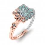 Square Vintage Petite Classic Ring