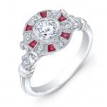 Diamond & Ruby Semi Mount
