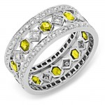Diamond and Yellow Sapphire Ring