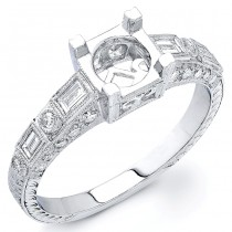 Diamond Engagement Ring, Semi Mount