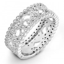 Floral Diamond Wedding Ring