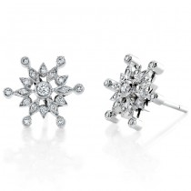 Diamond Snow Flake Earring
