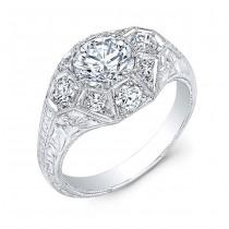 Antique Inspired Diamond Engagement Ring