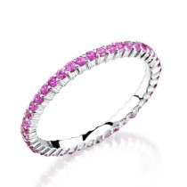 Prong Set with an Eternity of Pink Sapphires