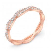 Rose Gold Stackable Diamond Wedding Ring