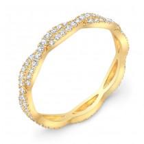 Yellow Gold Stackable Diamond Wedding Ring