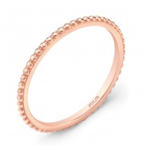Rose Gold Band With a Bead Pattern