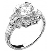 Art Deco Style Diamond Engagement Ring