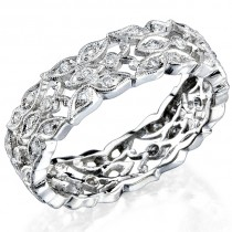 Butter Fly Designed Stackable Diamond Wedding Ring