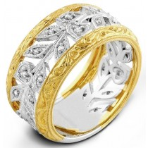 Two Tone White Gold And Yellow, Diamond Ring