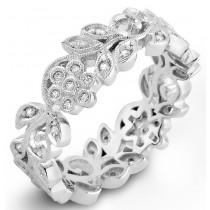 Organic Designed White Gold Diamond Wedding Ring