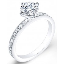 Petite Classic Diamond Engagement Ring