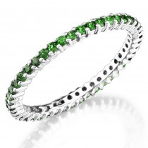 tsavorite prong set eternity ring