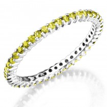 Prong Set stackable Yellow Sapphires ring