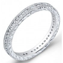 Engraved Channel Set Diamond Ring
