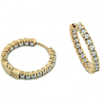 Fillgree Diamond Hoop Earring