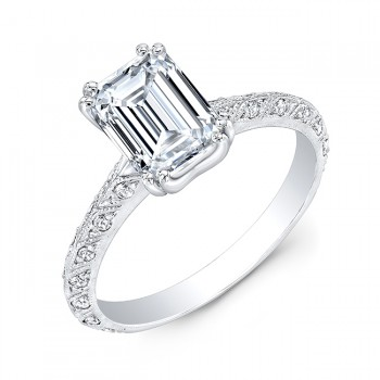 Gordon Clark Antique Inspired Diamond with Mill Grain Engagement Ring