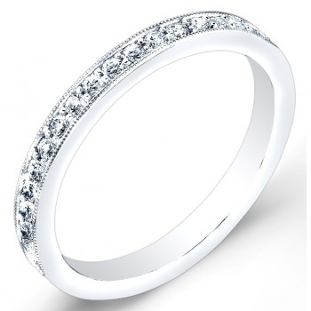 High Polished, Pave' Set Diamond Ring
