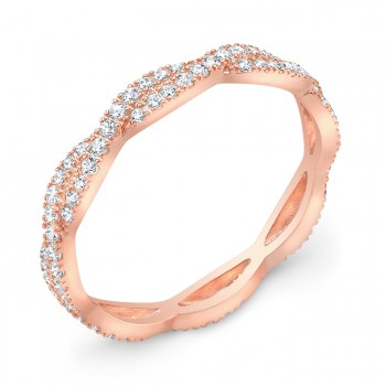 Rose Gold Stackable Diamond Wedding Ring