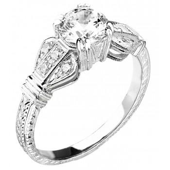 Art Deco Style Diamond Engagement Ring