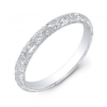 Curved Guard Wedding Band